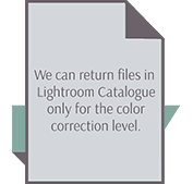 We can return wedding photos to LightRoom catalogue after color correction