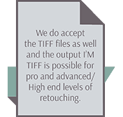 TIF output is possible for wedding photo retouching services