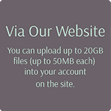 You can upload up to 20Gb of wedding photos for editing at our website