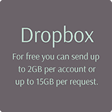 You can send up to 2Gb of wedding photos to edit via Dropbox