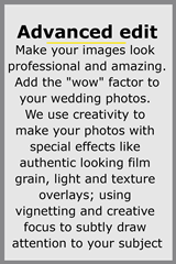Choose advanced level of wedding photography edit