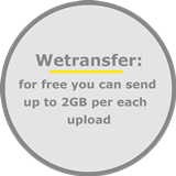 You can send up to 2GB wedding photos to edit via Wetransfer