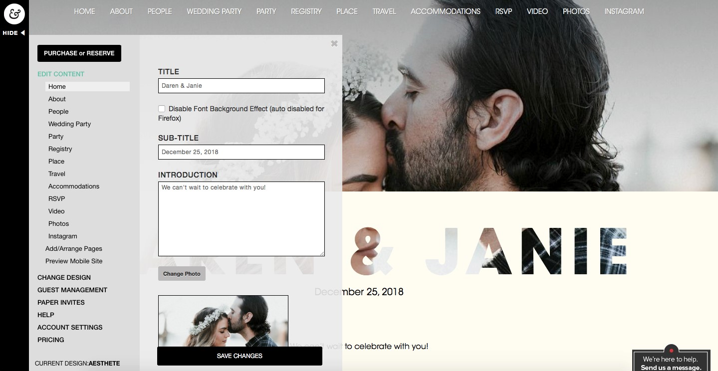 riley grey wedding website builder