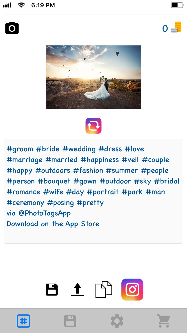 Top wedding hashtags on Instagram 2018