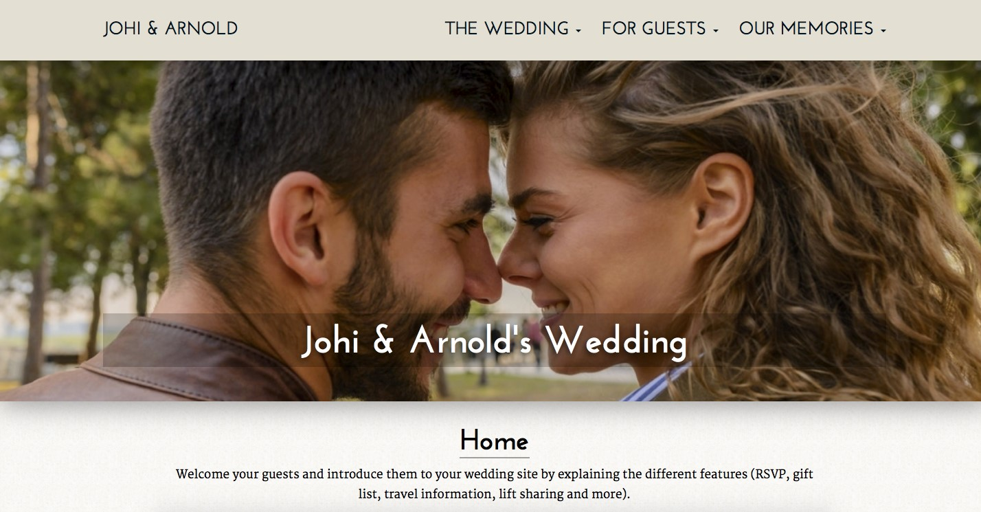 gettingmarried wedding website builder