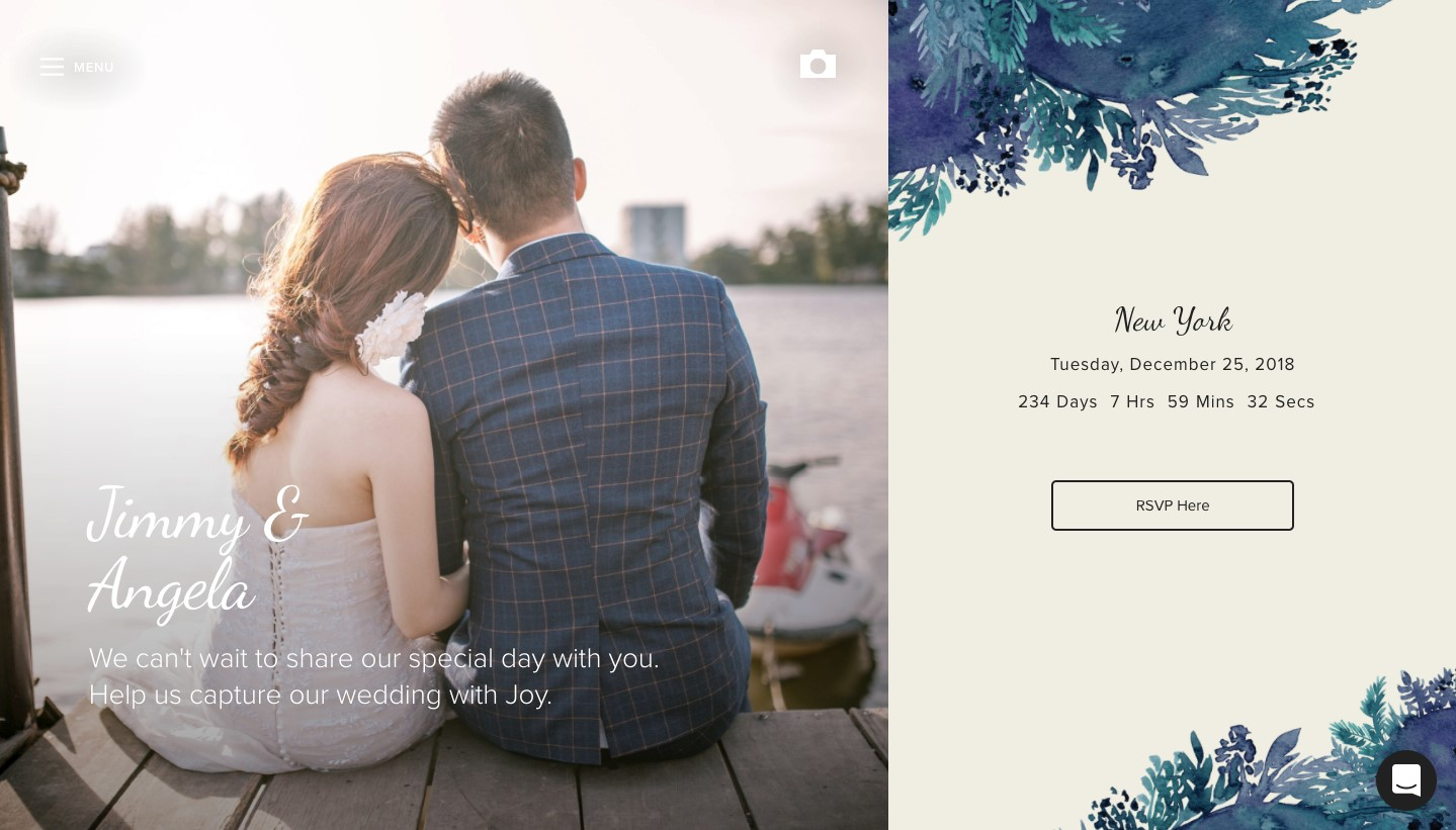 withjoy wedding website builder