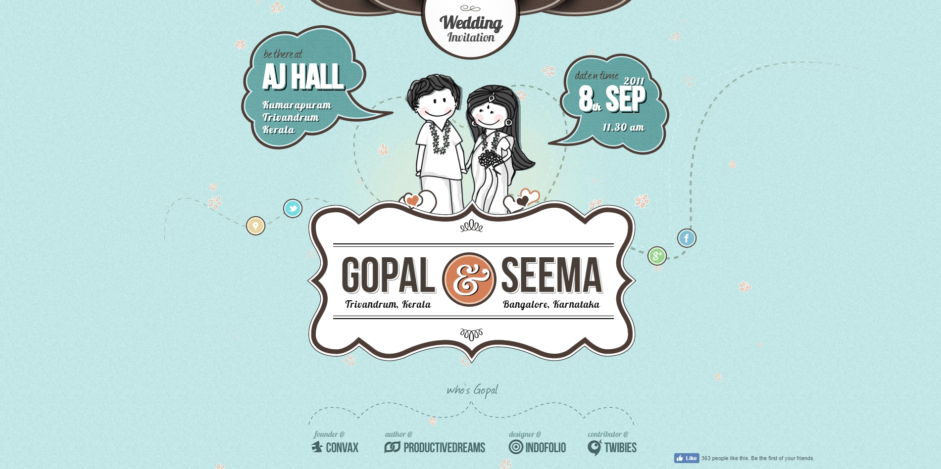 Gopal Raju and Seema Raju Wedding Invitation