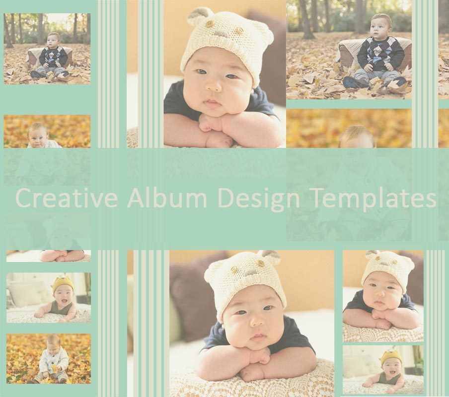 Soft And Summer Photo Album Design Templates Psd Free Download