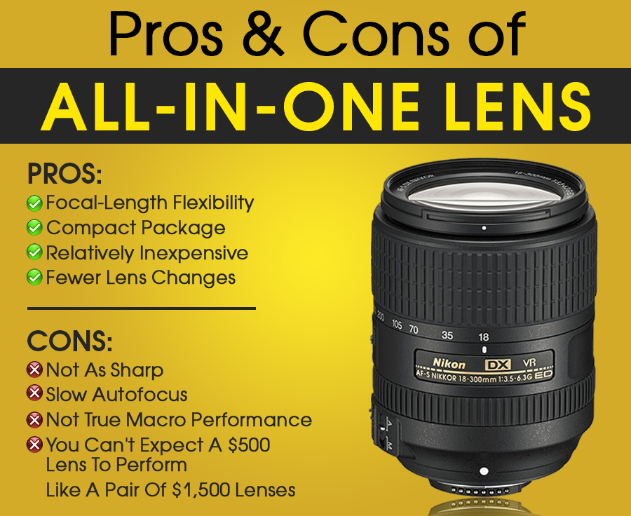 pros cons of all in one lens