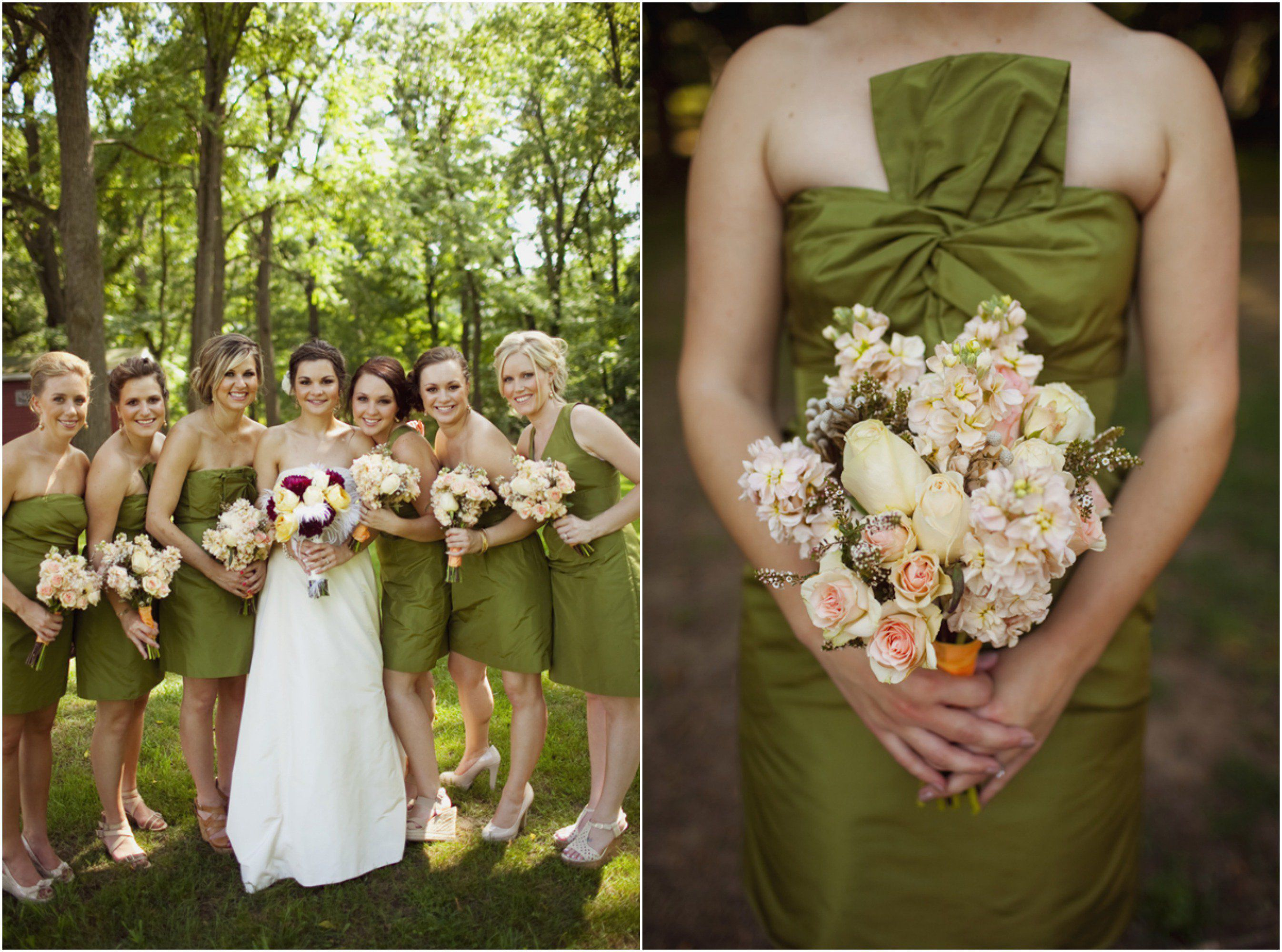 Olive green wedding color trend in 2017